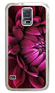 Samsung S5 case amazing cases Red Flower Natures PC Transparent Custom Samsung Galaxy S5 Case Cover