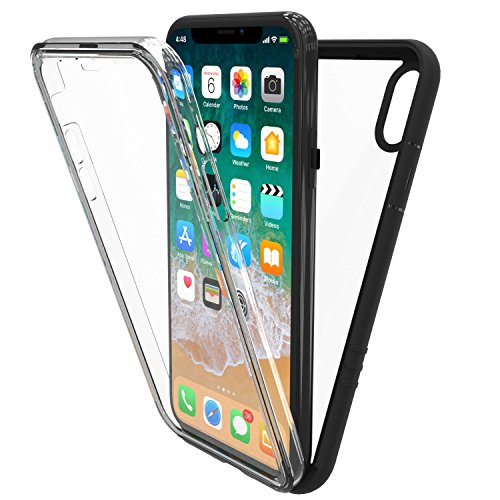 Price comparison product image New Trent Azure Full-body Transparent Bumper Case for iPhone X (2017) with Built-in Screen Protector and Transparent Back Casing
