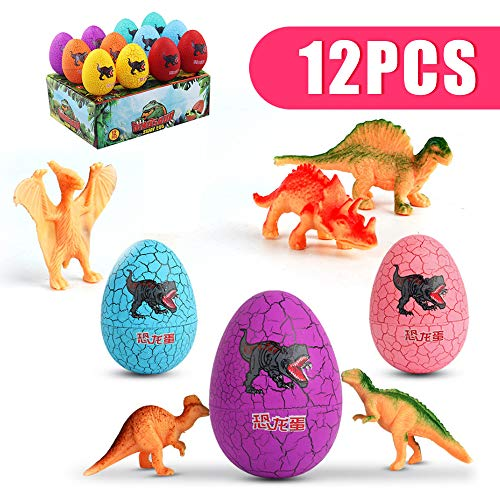 YLTF Tech Dinosaur Eggs Roly-Poly Tumbler Mini Cute Jurassic Dino Toys for boy,Easter Basket Filler,Party Favor, Prize Supplies, Educational Kit, Ideal Birthday for Kids,12 Pack