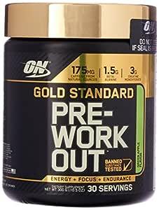 Optimum Nutrition Gold Standard Pre Workout, Green Apple, 300 Grams