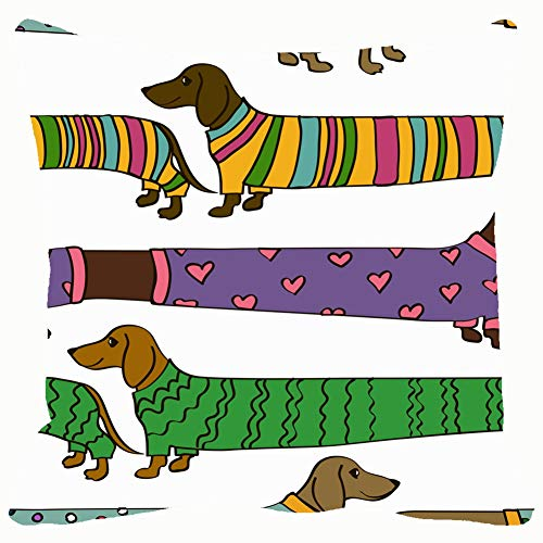 (Funny Cartoon Long Dachshund Animals Wildlife Throw Pillows Covers Accent Home Sofa Cushion Cover Pillowcase Gift Decorative 18x18)