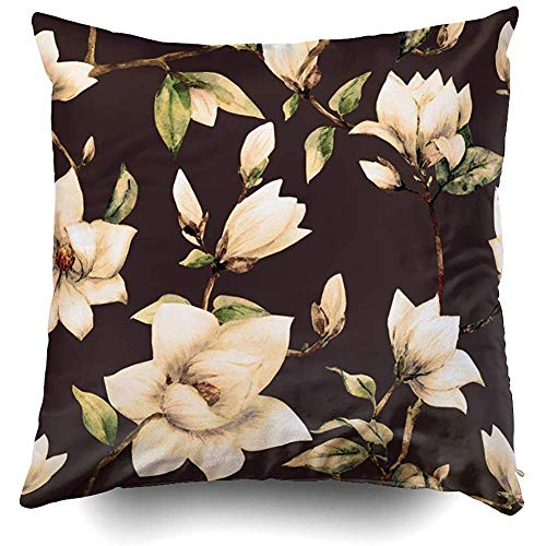 Throw Pillow Covers, Halloween Watercolor Pumpkin Pattern Hand Painted Pumpkin Cushions Case for Sofa Home Decorative Pillowslip Gift Ideas Household Pillowcase Zippered Pillow Covers 18X18 Inch]()