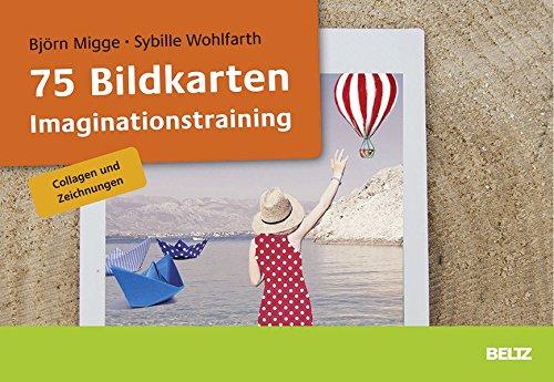75 Bildkarten Imaginationstraining: Collagen und Zeichnungen. Mit 46-seitigem Booklet