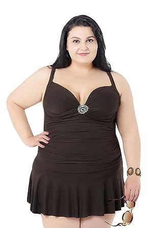 MingTai Donna Costume Da Bagno Con Gonna Abito a Nuotare Taglie ...