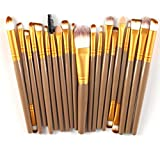 Nobio 20PCS/Set Soft Makeup Foundation Powder Brushes Face Eye Shadow Eyeliner Foundation Blush Lip Cosmetics Blending Brush Tool
