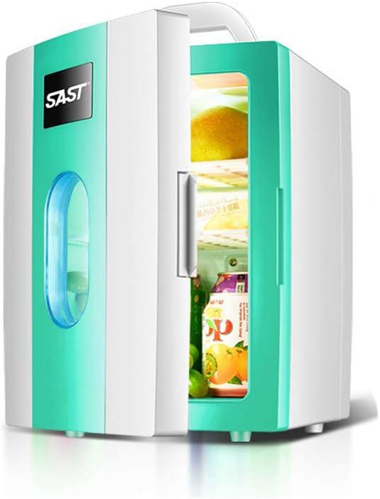 PXQ Refrigerador para Auto 10L Caja para Enfriador de Autos portátil Refrigerador/Calentador de Doble Uso Incluye enchufes para tomacorriente y Cargador de Auto de 12 V,Green: Amazon.es: Hogar