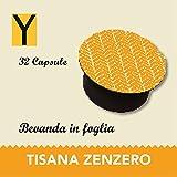Yespresso Capsule Tisana Zenzero e Limone Compatibili per Nescafe Dolce Gusto - Confezione da 32 Pezzi