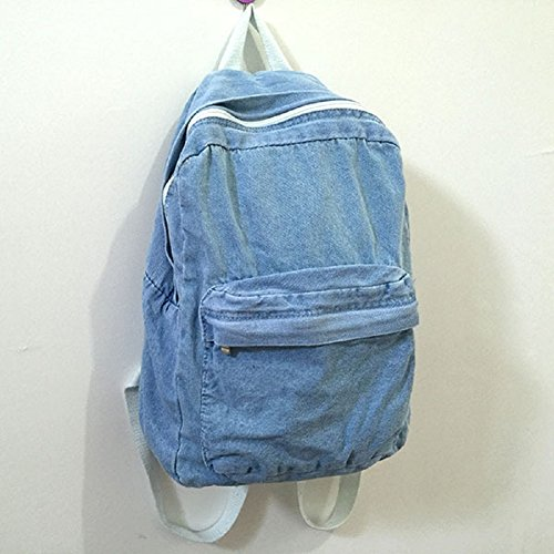 Backpacks for Women and Males, MiCoolker Classic Vintage Denim Bookbags School Bag College Jeans Backpack – DiZiSports Store