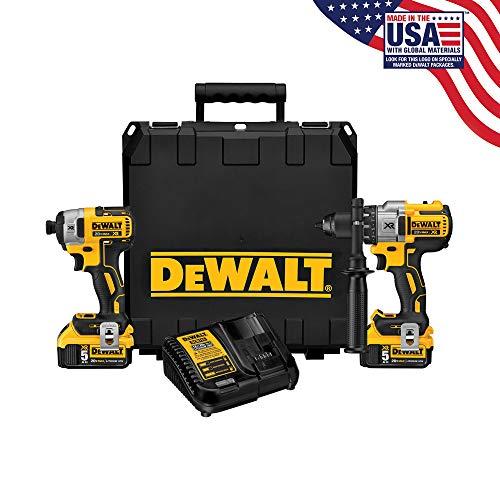 DEWALT 20V MAX XR Cordless Drill Combo Kit, Brushless, 5 0-Ah, 2-Tool  (DCK299P2)