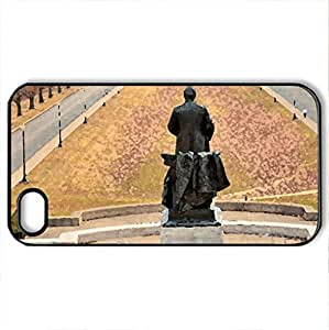 McKinley Monument and Park - Case Cover for iPhone 4 and 4s (Monuments Series, Watercolor style, Black)