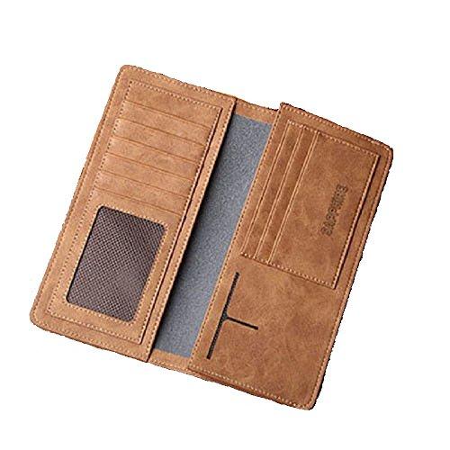 Wallet Long Leather Purse Card Men Bifold Clutch Holder Checkbook Pockets - Groupon England