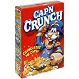 Cap'N Crunch Cereal, The Larger 16-Ounce Boxes (Pack of 4)