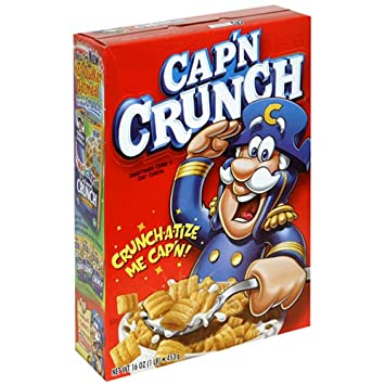 Amazoncom Capn Crunch Cereal The Larger 16 Ounce Boxes Pack Of