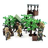 aa gun - DC Plastic Toys Jungle Army Camp with Soldiers and AA Gun - Military Building Block Toy