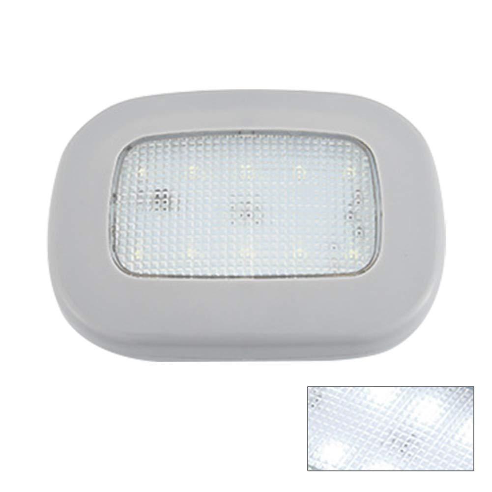 1 L/ámpara de Techo para Coche con luz LED Recargable por USB Universal para Coche Negro Autocaravana Caravana Ainstsk cami/ón Barco