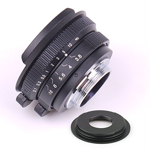 Pixco 8mm F3.8 Fish-eye CCTV Lens for C Mount Camera + 16mm C Mount Movie Lens to Sony E-Mount NEX Camera Lens Adapter by Pixco