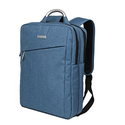 Slim Business Laptop Backpack Travel Bag for Men and Women fit up to 15.6 Inch Macbook Computers, Blue