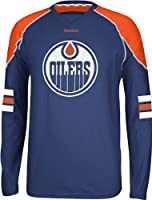 NHL Edmonton Oilers Men's Edge Long Sleeve Jersey Tee