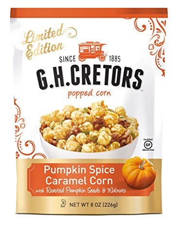 G.H. Cretors Popped Caramel Corn, Pumpkin Spice, 8 Ounce