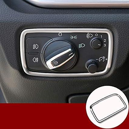 2 unidades Marco de bot/ón para interruptor de faro delantero interior de ABS