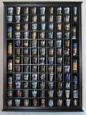 Amazon 100 Shot Glass Display Case Holder Shadow Box Wall