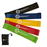 #9: HAWKFIT Resistance Loop Exercise Bands, Set of 5 with Carry Bag, 12