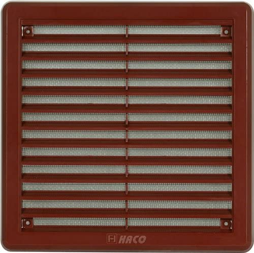 """Brown Air Vent Grille avec anti-Insert Maille Lames 6/"""" x 6/"""" 150 mm x 150 mm Taille"""