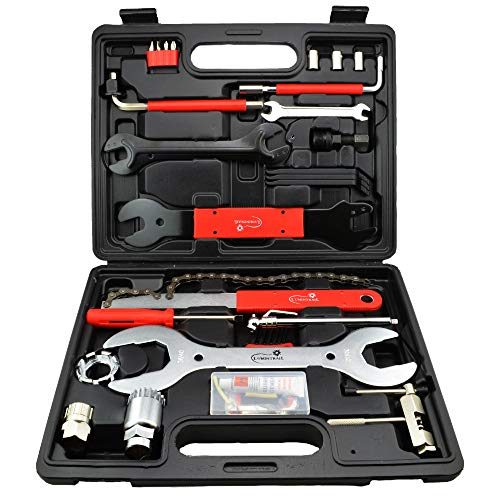 Lumintrail Bike Repair Tool Kit 42 Piece Multi Tool Bicycle Maintenance Tool Set with Tool Box