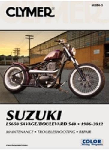 amazon com clymer repair manual for suzuki ls650 boulevard s40 86 rh amazon com 2005 Suzuki Boulevard S40 2017 Suzuki Boulevard S40