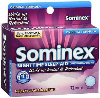 Sominex Tablets Original Formula - 72 ct, Pack of 4