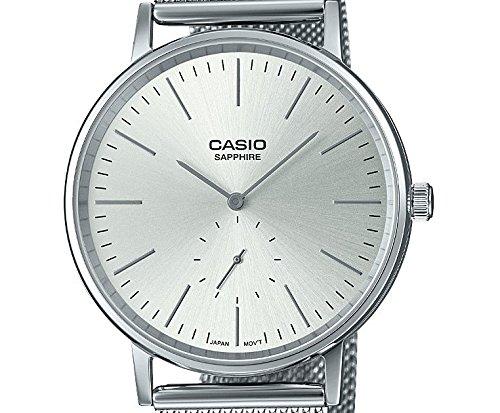 Casio Reloj Analógico para Hombre de Cuarzo con Correa en Acero Inoxidable LTP-E148M-7AEF: Amazon.es: Relojes