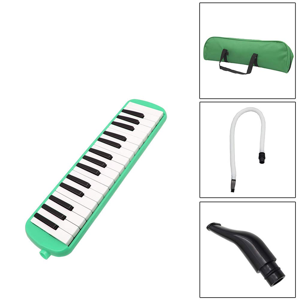 HBIAO 32-Key Elodica, Piano Key Mouth Organ Instrument Suitable for Professional Playing Students Classroom Dedicated Tone Piano with Convenient Package Blowpipe