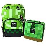 JINX Minecraft Creeper Backpack & Creeper Block Lunch Bag Set