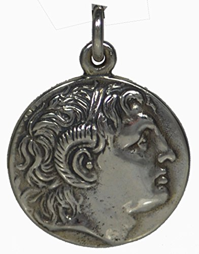 Alexander The Great Hercules Large Silver Coin Pendant - Macedonia Vergina King - Large Silver Coin