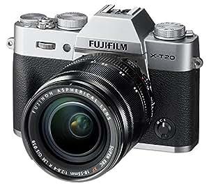 Fujifilm X-T20 Mirrorless Digital Camera w/XF18-55mmF2.8-4.0 R LM OIS Lens - Silver (International Model No Warranty)