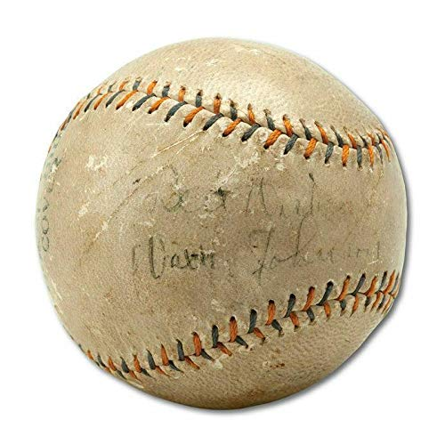 1920's Walter Johnson Single Signed Autographed Baseball With COA - PSA/DNA Certified - NFL Autographed Miscellaneous Items