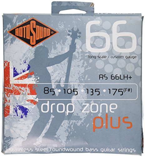 Rotosound RS66LH+ Swing Bass 66 Stainless Steel Bass Guitar Strings (85 105 135 175)