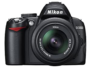 Nikon D3000 10.2MP Digital SLR Camera with 18-55mm f/3.5-5.6G AF-S DX VR Nikkor Zoom Lens