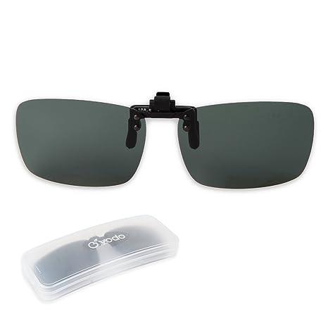 7e198faa5d Yodo polarizadas Flip Up Clip On Gafas de sol sobre Prescripción gafas para  hombres mujeres conducción