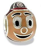 OSU Buckeyes Brutus 3-D Bead Charm - Fits Pandora & Others- Lifetime Guarantee