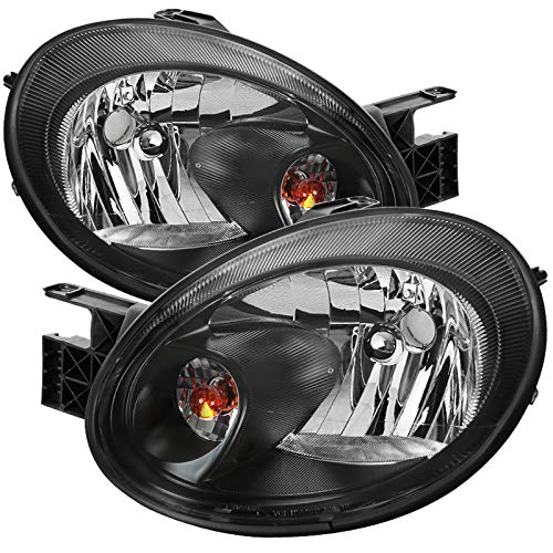 Carpartsinnovate For 03-05 Dodge Neon Replacement Black Headlights Front Driving Headlamps Left+Right