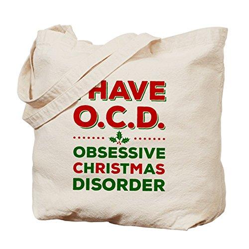 CafePress–I have OCD (disturbo ossessivo Natale)–Borsa di tela naturale, panno borsa per la spesa