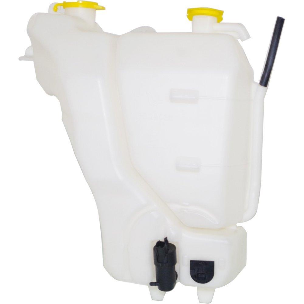 Evan-Fischer EVA118051315416 New Direct Fit Coolant Reservoir for Dodge Full Size P/U 06-09 Windshield Washer Tank W/Motor And Sensor Plastic Dual reservoir