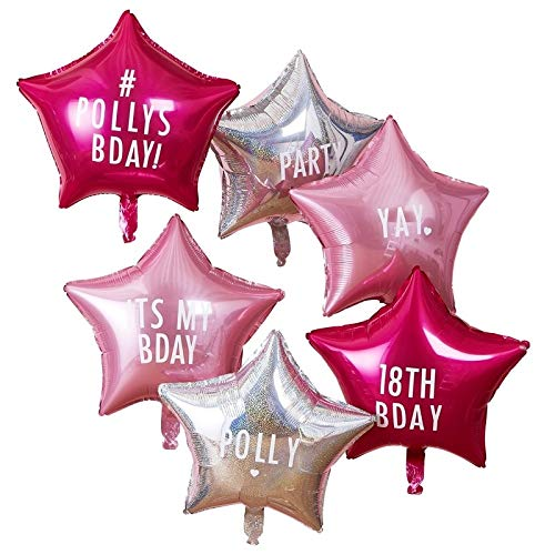 Happy Birthday Balloons DIY Number Balloons and Letter Balloons Make Your Own Custom Balloons Pak of 6 Balloons 18