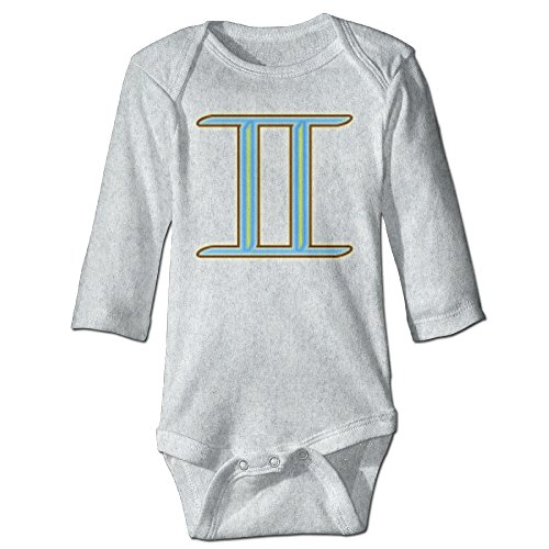 [Raymond Gemini The Twins Long Sleeve Baby Climbing Clothes Ash 12 Months] (Forrest Gump Kid Costume)