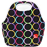 Lunch Bag, KOSOX® Lunch Tote/ Lunch Bag - Taste of Home - Simple & Delicious (Circle - Black)