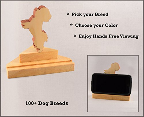 Personalized Dog Cell Phone Stand ○ Versatile Customizable Pet Smartphone accessory ○ iPhone•Android•Phone•Tablet•Business Card Holder ○ Doggy Pose: Poodle thru Sheltie○by DogPound Creations