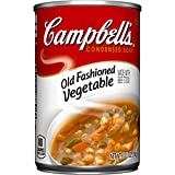 Campbell's Condensed Old-Fashioned Vegetable Soup features our timeless combination of farm-grown veggies like carrots, potatoes, celery, peas and corn stewed in a savory beef broth with enriched pasta. Low in fat and cholesterol, you'll feel good ab...