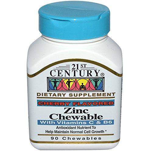 21st Century, Zinc Chewable, Cherry Flavored, 90 Chewables - 2PC