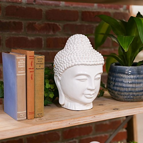 Urban Trends Collection UTC 70363 White Ceramic Buddha (Large Buddha Head)